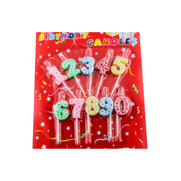 Wholesale flower cake birthday number candles