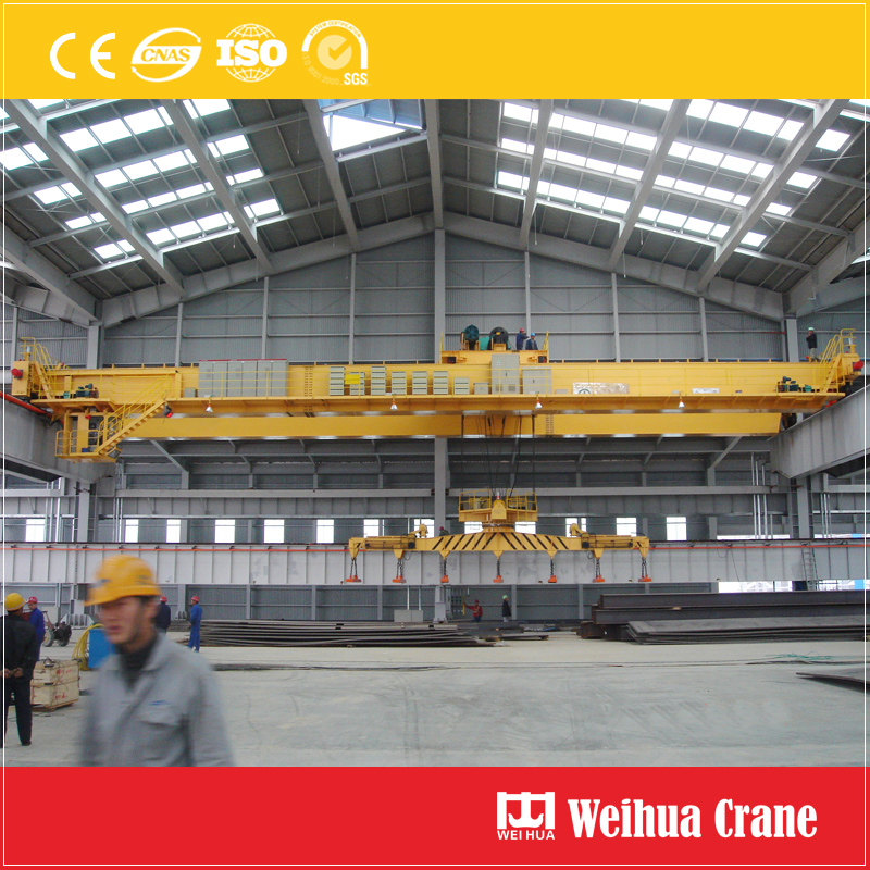 Overhead Crane With Magnet Beam