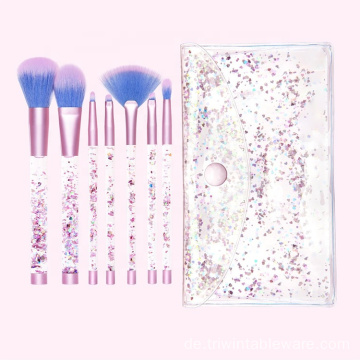 7pcs Liquid Glitter Griff Make-up Pinsel Set