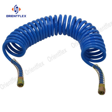 Trailer air brake spiral hose