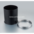 Stainless Steel Single Layer Black Trash Can