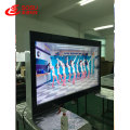 Floor standing double-sided screen for advertising