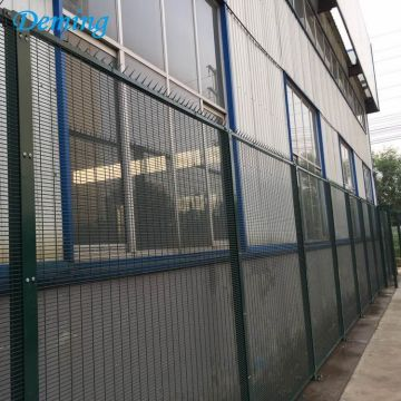 Powder coated prison anti climb metal fence panels