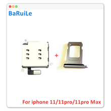 BaRuiLe 1set for iPhone 11 Dual SIM Card Reader flex cable +SIM Card tray Holder Slot Adapter Replacement