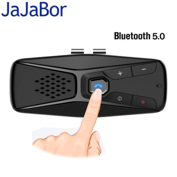 JaJaBor Bluetooth Car Kit Handsfree Speakerphone Wireless with Microphone Bluetooth 5.0 Automatic Shut Down and Auto Connect