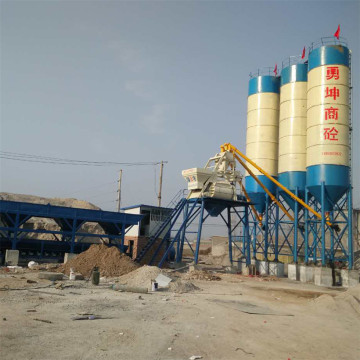 JS laboratory HZS25 fixed concrete batching plant