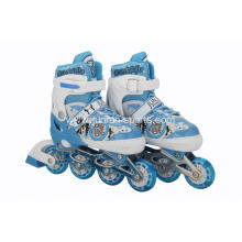 Inline skates with PU flash wheels