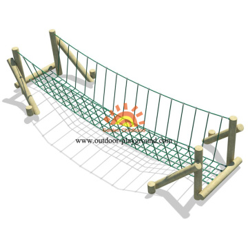 Wooden Balancing Net Bridge Playground Equipment