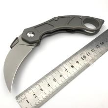 Titanium Håndtag Folding Pocket Knife Karambit Kniv