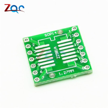 20pcs SOP14 SSOP14 TSSOP14 to DIP14 Pinboard SMD To DIP Adapter 0.65mm/1.27mm to 2.54mm DIP Pin Pitch PCB Board Converter Socket