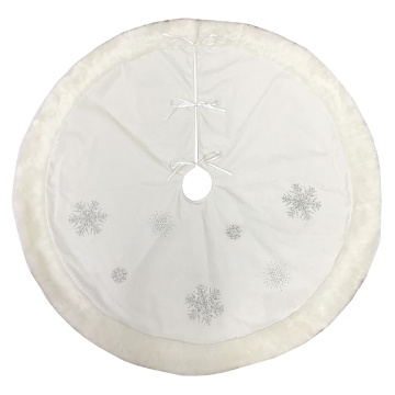 Christmas Snow Tree Skirt  Decor Holiday