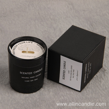Private label soy wax scented candle gift set