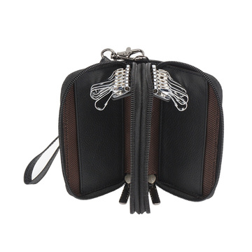2 Layers Men Wallet with Car Key Case