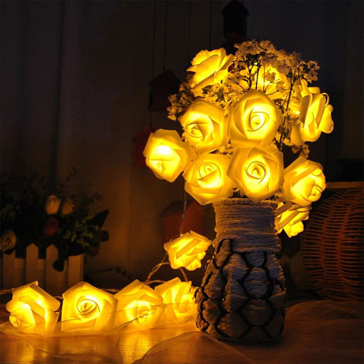 flower led light chain