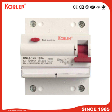 Residual Current Circuit Breaker KNL4-125 125A CE 4P