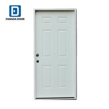 Fangda popular design 6 panel steel door slab