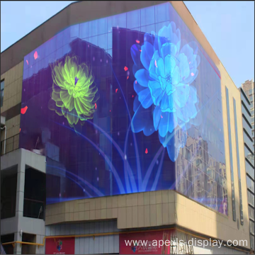 Semi-outdoor Curtain Wall LED Display