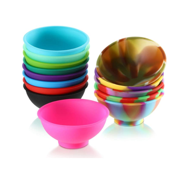Useful Custom Multicolor Silicone Snack Fruit Bowls