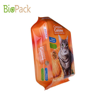 Colourful printing Pet Food Bag Gusset Pouch For Fish Feed With Good Sealing