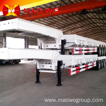 Best Price 2 Axles Lowbed Gooseneck Semi Trailer