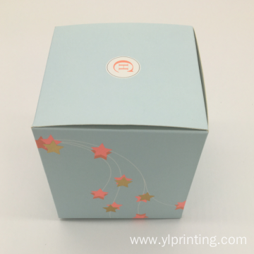 Colored Book Shape Earphone Paper Card Gift Box