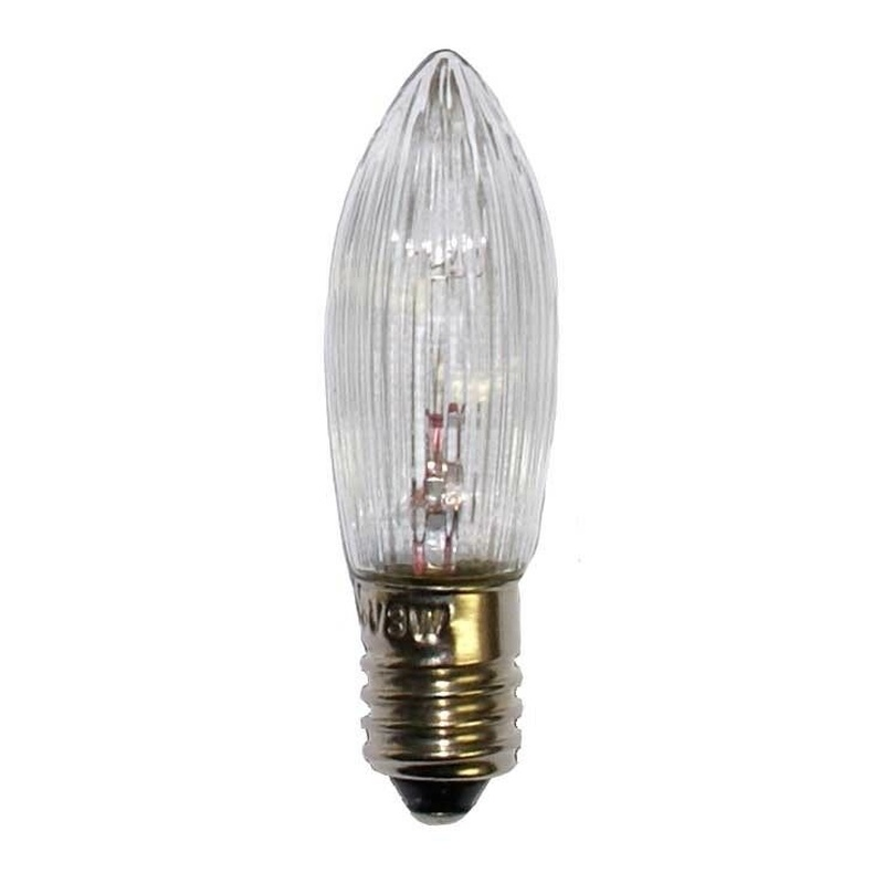 10pcs/pack E10 LED Replacement Lamp Bulb Candle Light Bulbs for Light Chains 10 V-55 V AC for Bathroom Kitchen Home Bulbs Decor