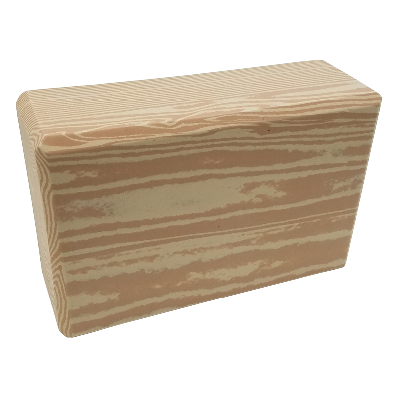 Camouflage Yoga Block Wood