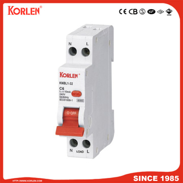 EARTH LEAKAGE CIRCUIT BREAKER KNBL1-32 32A 30mA CE