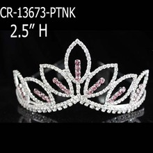 Pink Rhinestone Tiaras Flower Crown