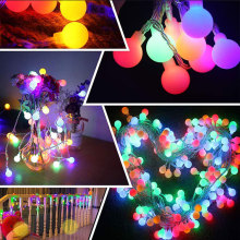 Led Ball Globe Coloured Fairy String Lights