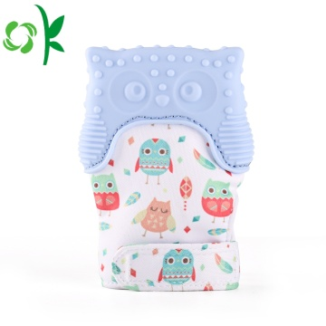 BPA Free Baby Owl Mitten Silicone Teether Gloves