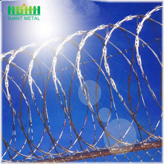 home depot wires hot dipped razor barbed wire price for sale