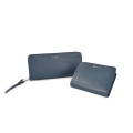 Classic Genuine Cow Leather Women Slim Billfold Wallet