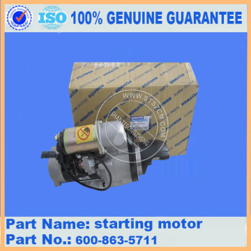 komatsu PC300-7 engine starting motor 60-863-5711