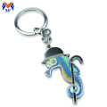 Metal custom cut out animal dolphin keychain