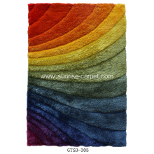 Elastic&Silk Shaggy 3D Design Rug