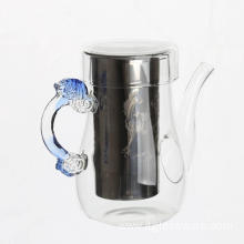 Best Selling Borosilicate Glass Flower Teapot