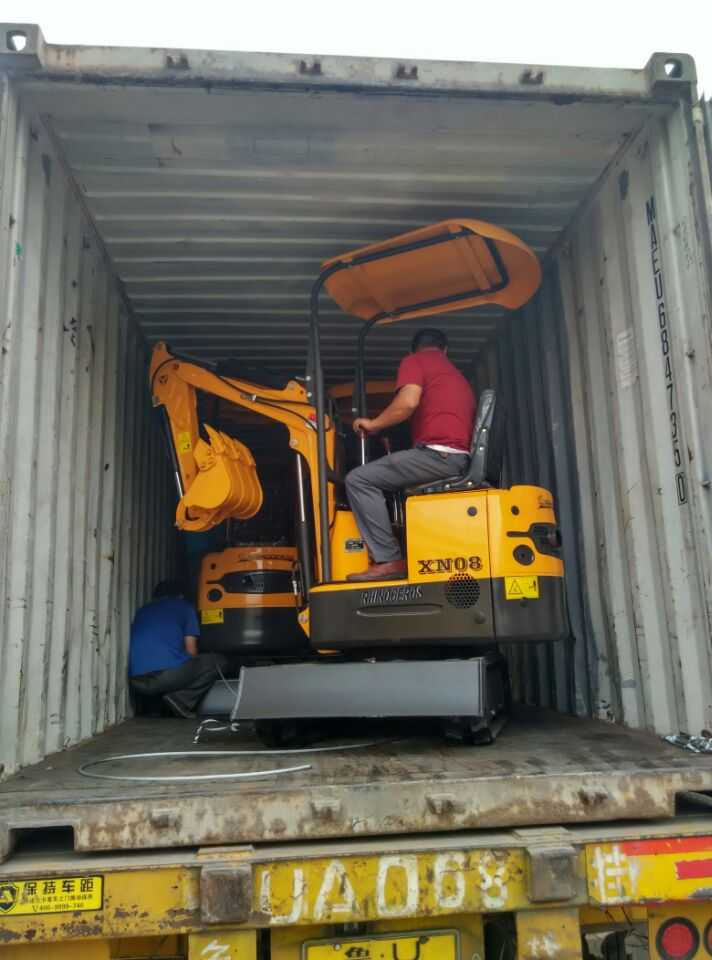 Mini Excavator XN08 Loading container