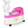 Rabbit Plastic Baby Potty Chair With Wheel