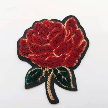 Personalized custom flower rose embroidery patch