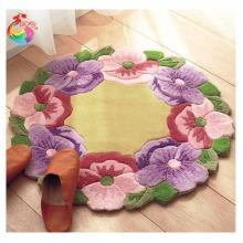 Hook Rug Kit DIY Needlework Sets Unfinished Crocheting Yarn Mat Latch Hook Rug Kit Floor Mat Carpet Set Flowers kids room carpet