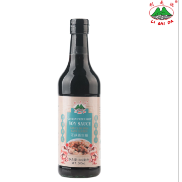Gluten-free soy sauce in 500ml glass bottle