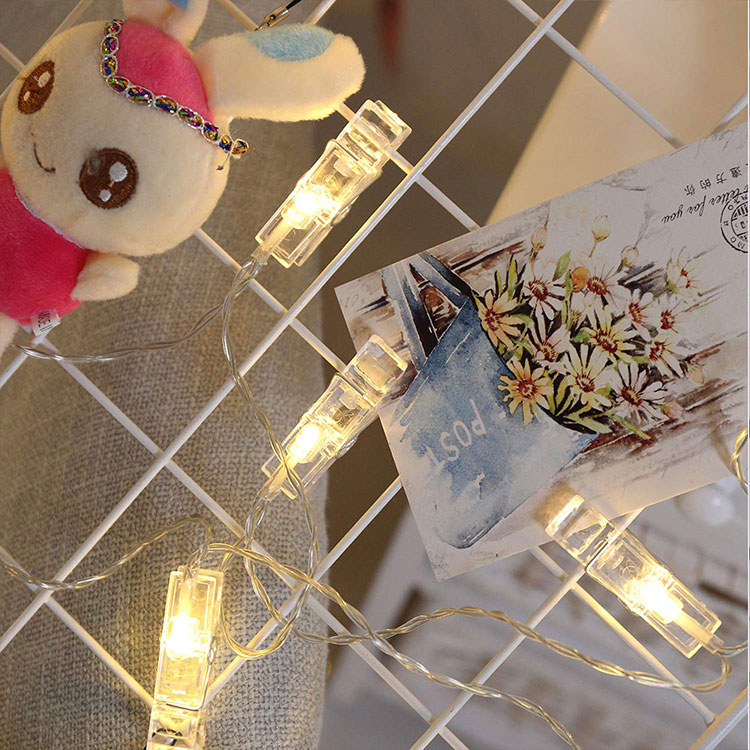 2m 20led photo clips string lights