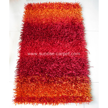 Viscose Polyester Shaggy with Design Carpet