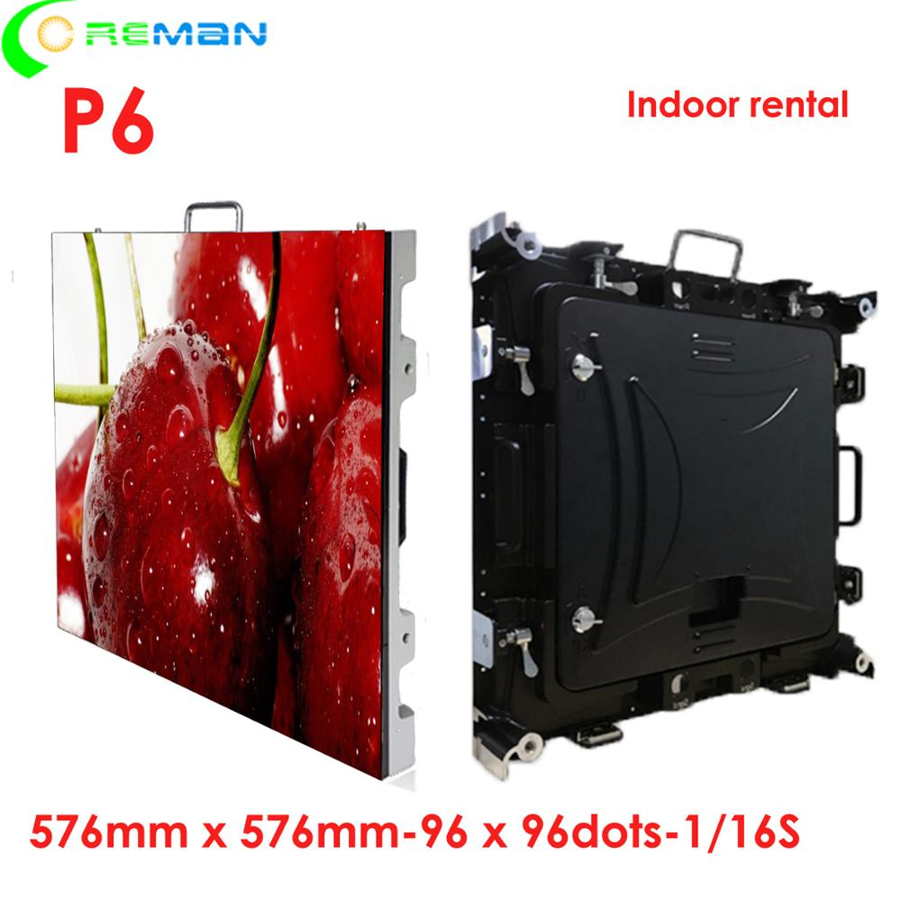 Indoor P6 rgb led video wall panel smd3528 high brightness text message sign indoor led display screen P6
