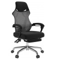 mesh swivel office chair with ottoman