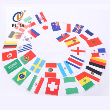 Custom satin printed polyester all countries flags