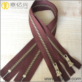 fashion shiny gold metal zipper for bags