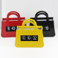 Black Handbag Flip Clock For Decor