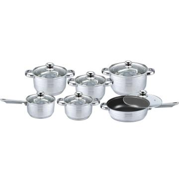 12pcs stainless steel cookware sets KOREA